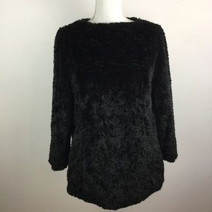 Dennis Basso Sterling Collection Faux Fur Pullover